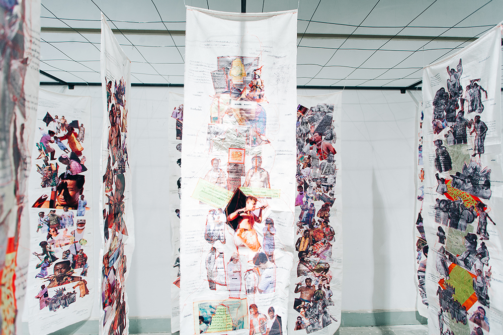 collage curtain